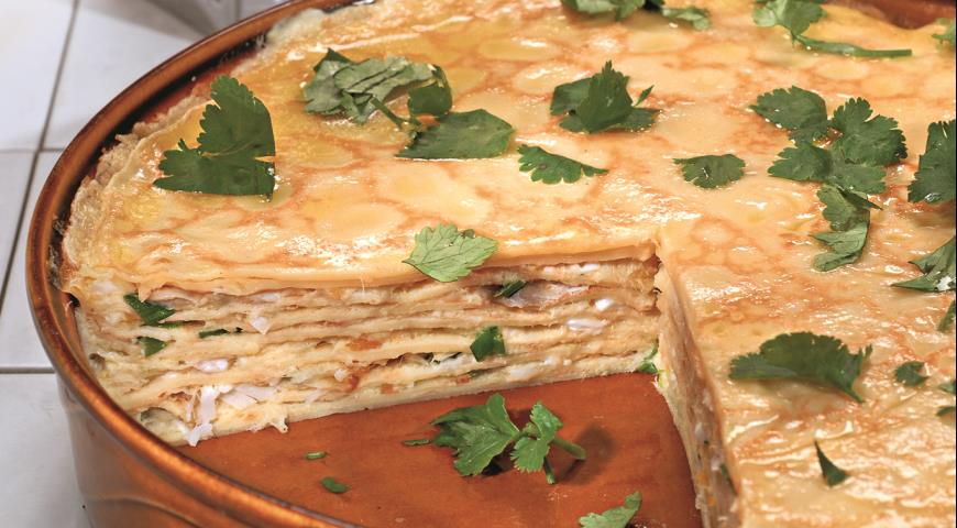 Пирог рецепты с салат