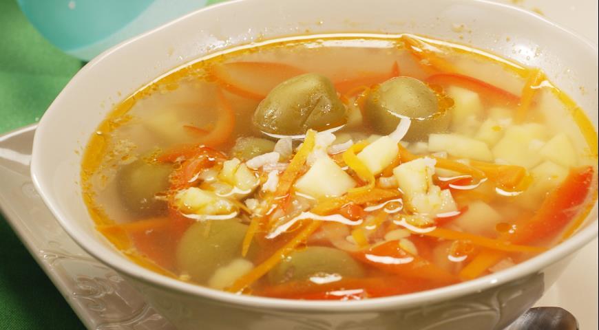 Суп со свининой пошаговый рецепт с в мультиварке