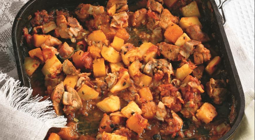 Рагу в тыкве рецепт с фото пошагово в духовке