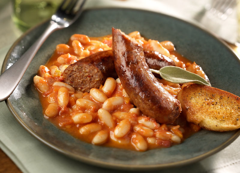 Колбаски с фасолью | Рецепты с фото