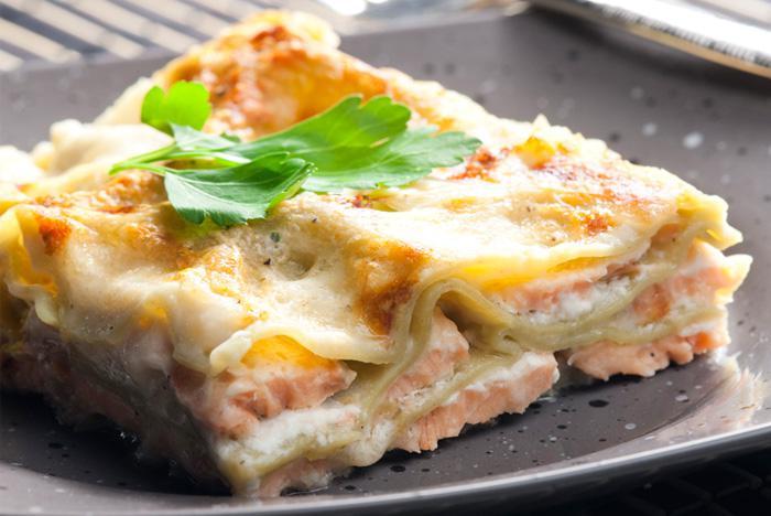 Лазанья с лососем | Рецепты с фото
