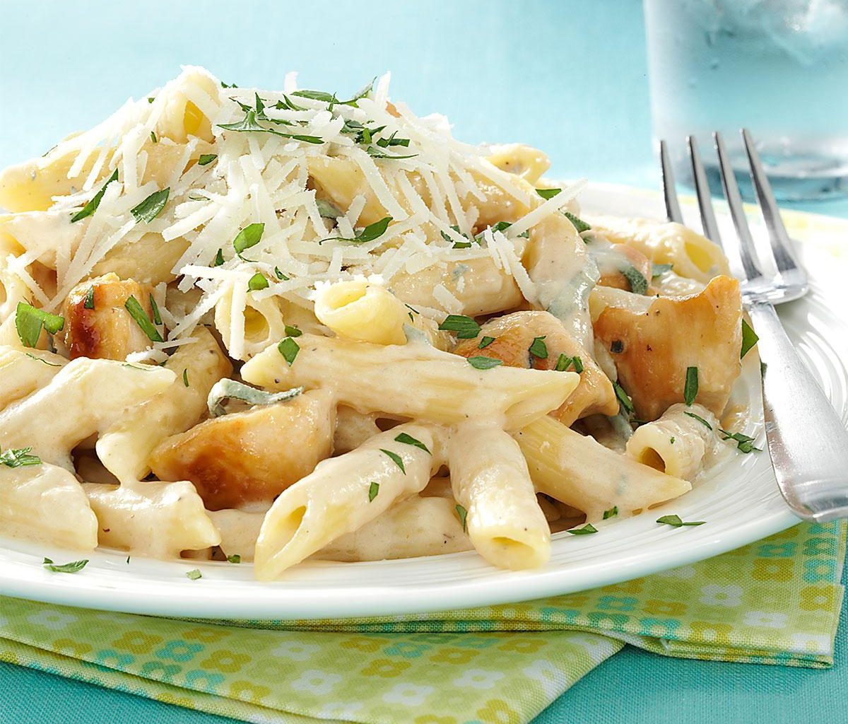 Паста с курицей и овощами | Рецепты с фото