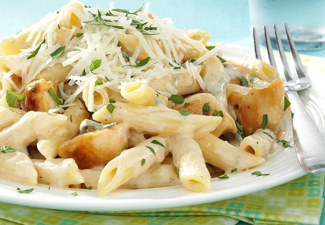 пенне с курицей, паста с курицей, паста с курицей и овощами, пенне с курицей и овощами, итальянская кухня, паста