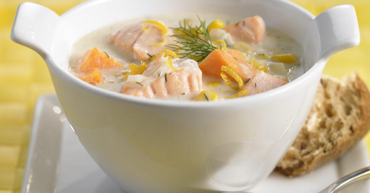 Крем –суп с лососем | Рецепты с фото