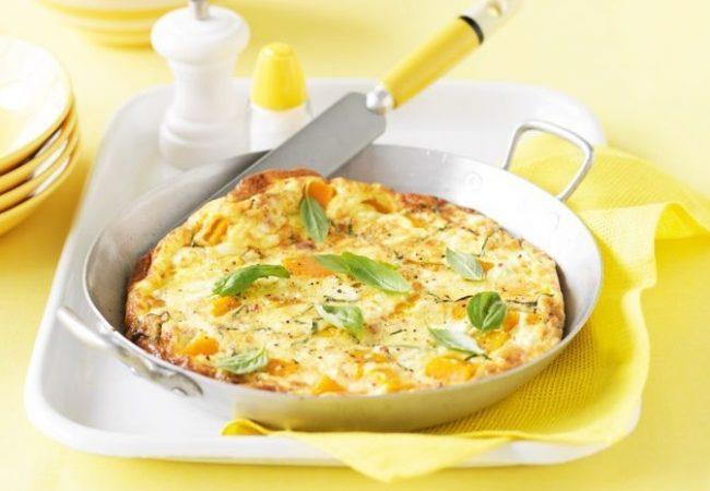 фриттата, фриттата с тыквой, итальянское блюдо, итальянская кухня
