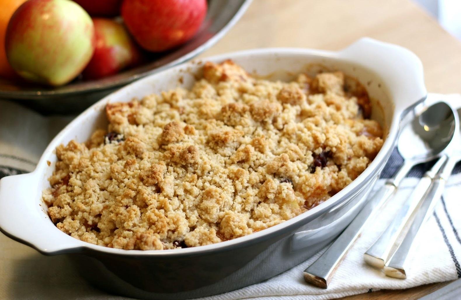 Яблочный крамбл рецепт с фото