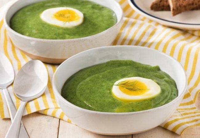 Крем - суп из шпината с яйцом | Рецепты с фото