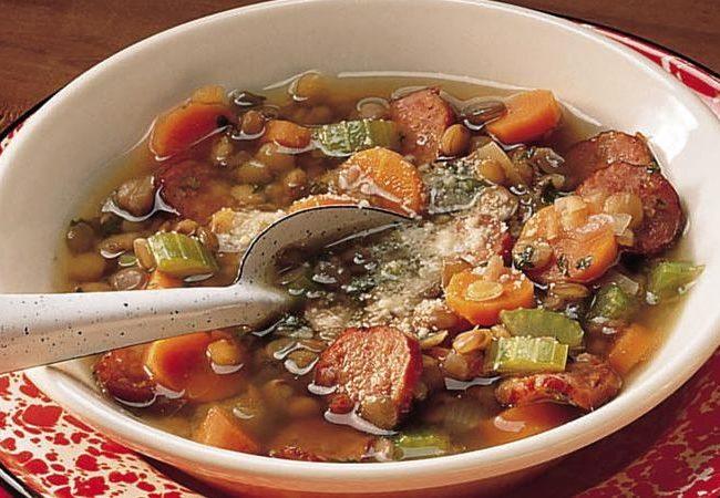 Австрийский чечевичный суп | Рецепты с фото