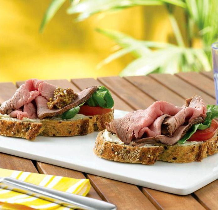 Бутерброды с ростбифом | Рецепты с фото