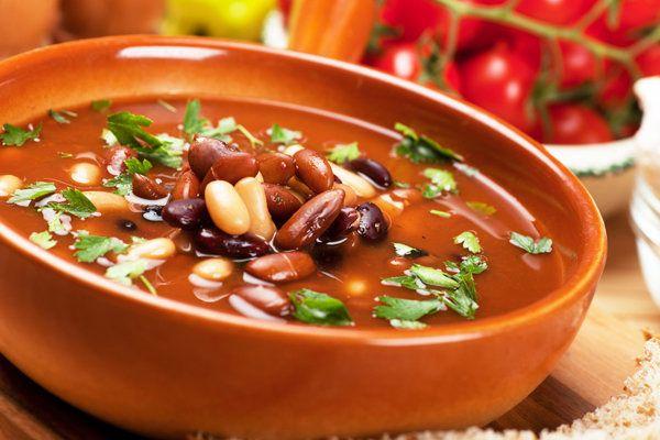 Фасолевый суп с кинзой, суп из овощей, овощной суп, суп из фасоли