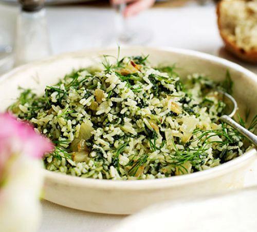 Греческий рисовый салат | Рецепты с фото