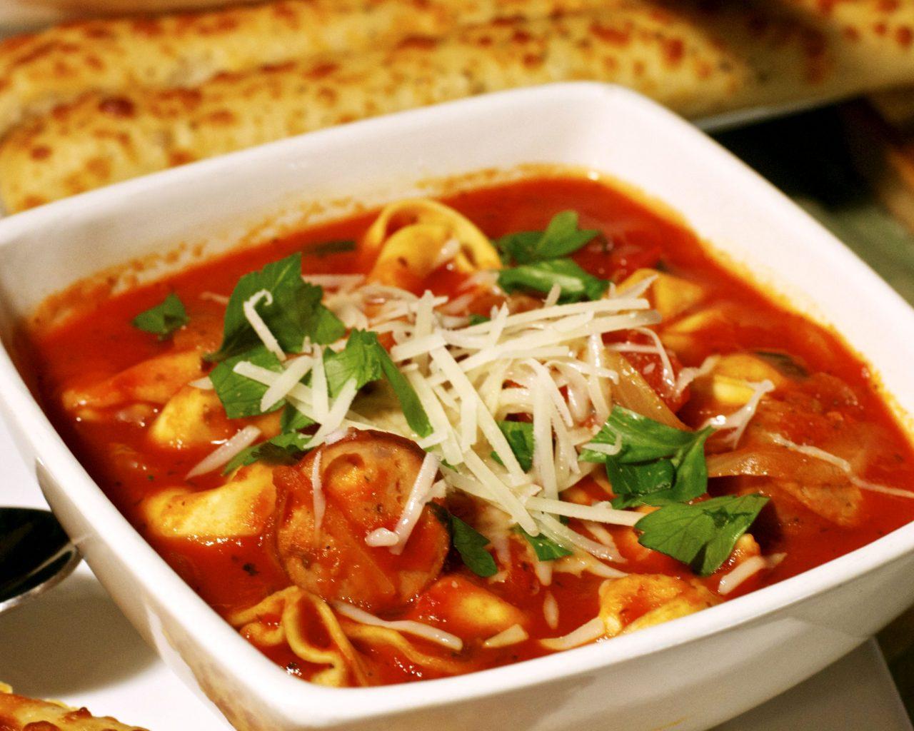 Итальянский суп с сосисками | Рецепты с фото