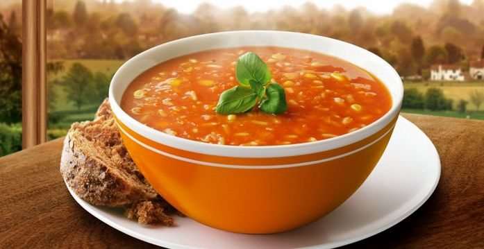 Итальянский томатный суп с рисом и мидиями | Рецепты с фото