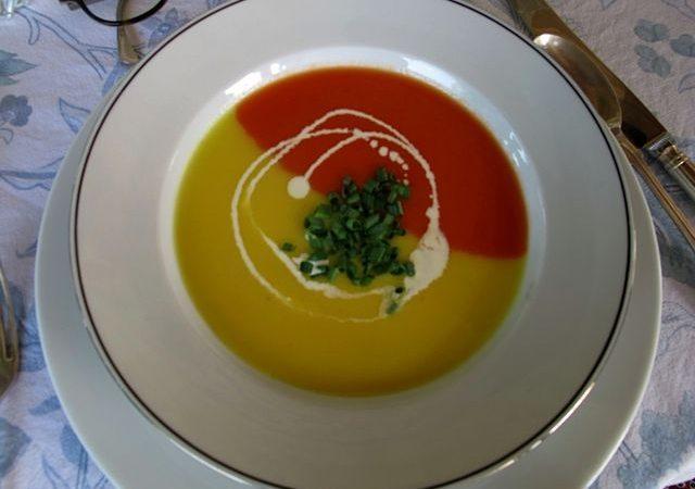 Красно-желтый суп | Рецепты с фото