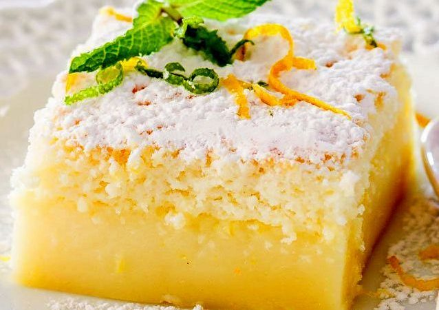 Лимонные пирожные, пирожное, австрийское лимонное пирожное, австрийский десерт