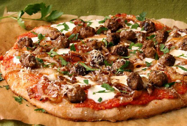 Пицца с мясными шариками | Рецепты с фото