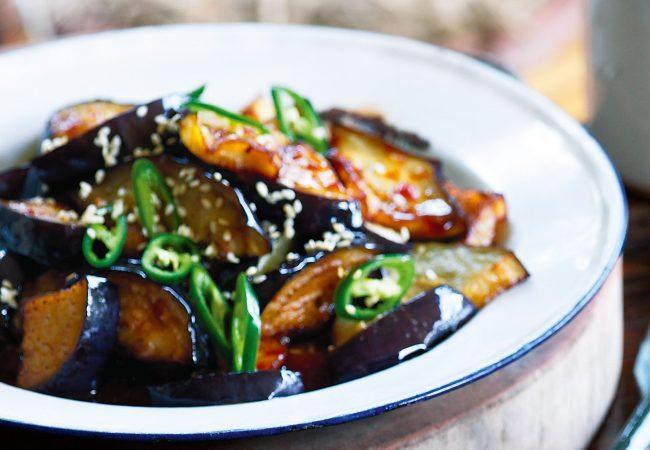 Баклажаны по -японски, баклажаны, баклажаны жареные в соусе
