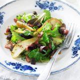 Салат с беконом и грушей | Рецепты с фото