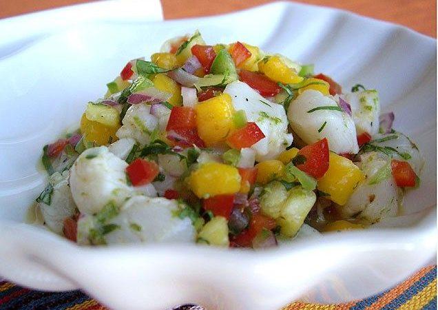 Севиче из ананаса с морским гребешком | Рецепты с фото