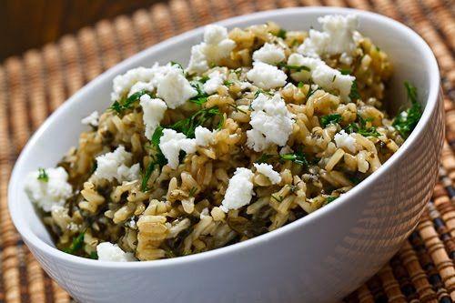 Спанакоризо -  рис со шпинатом и зеленью | Рецепты с фото