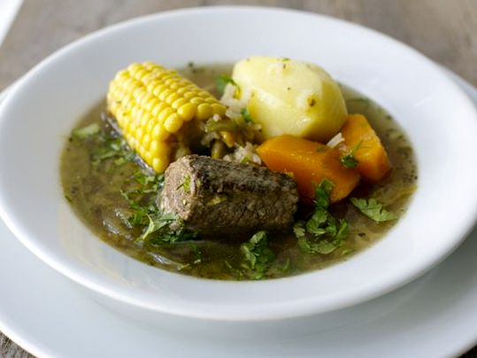 Суп Касуэла, чилийский суп, суп из тыквы, суп