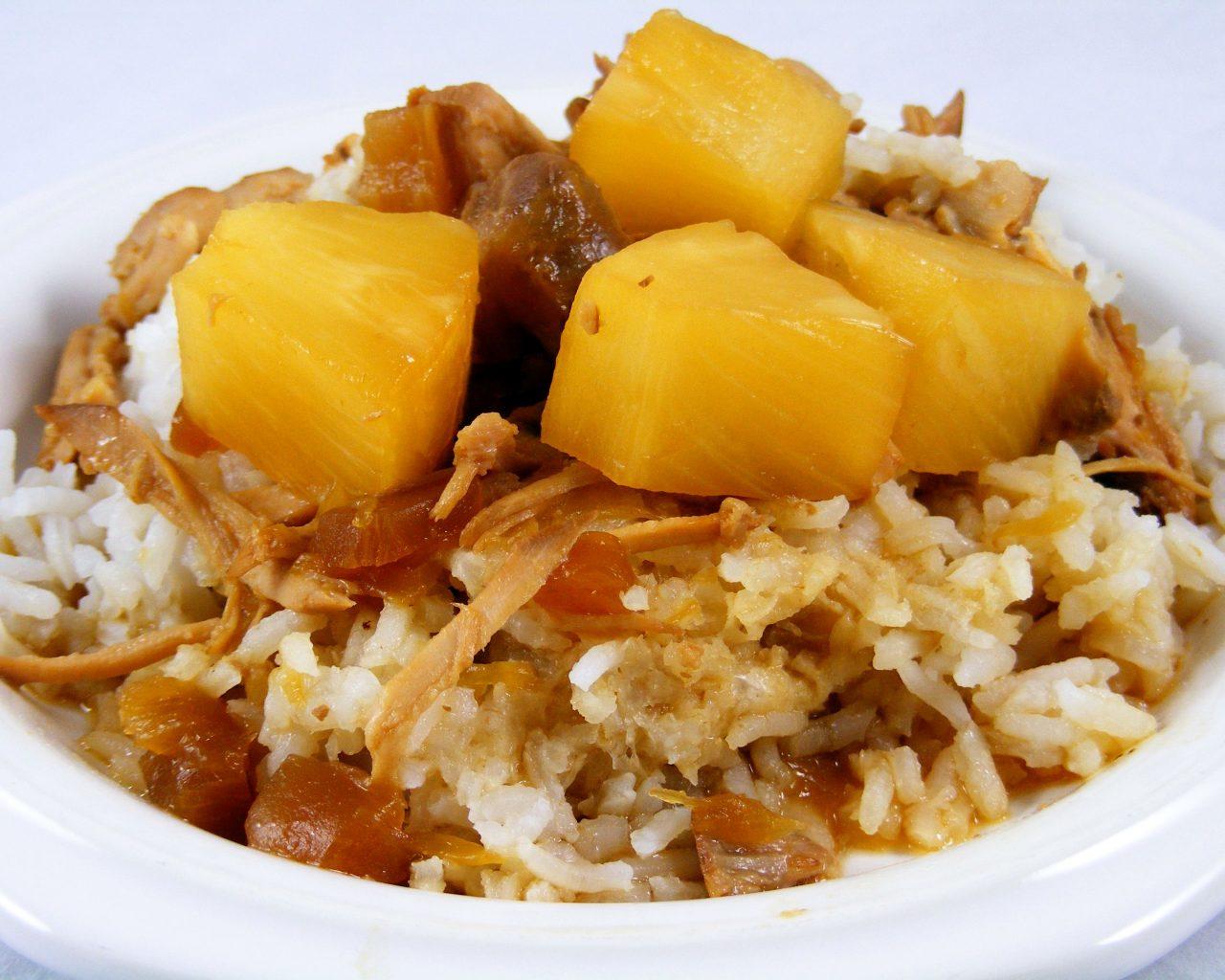 Свинина с рисом и ананасом по-индийски | Рецепты с фото