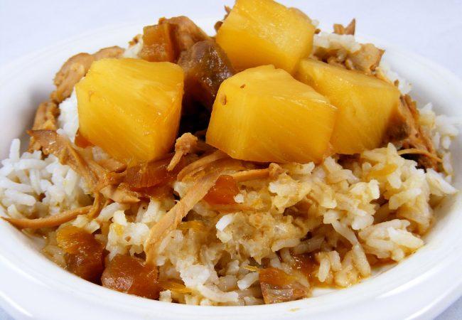 Свинина с рисом и ананасом по-индийски. свинина с рисом