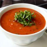 Томатный Гаспачо, Гаспачо, суп Гаспачо, итальянский суп Гаспачо, итальянский суп, суп из помидор, суп, блюда из помидор, холодный суп
