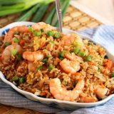 Жареный рис с креветками | Рецепты с фото