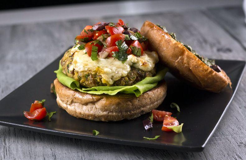 Баклажановый гамбургер | Рецепты с фото