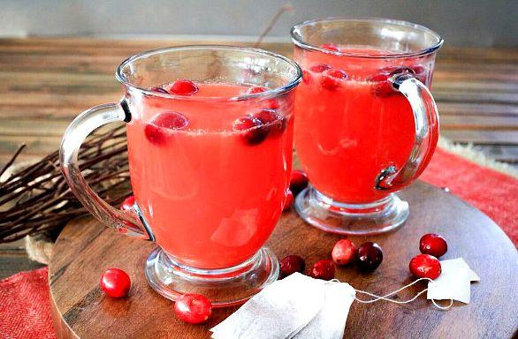 Чай с клюквой | Рецепты с фото