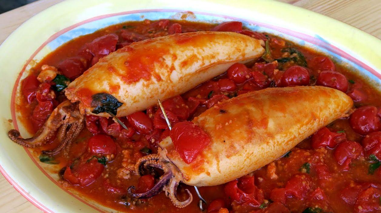 Фаршированные кальмары | Рецепты с фото
