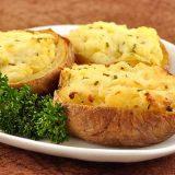Картофель, фаршированный сыром | Рецепты с фото