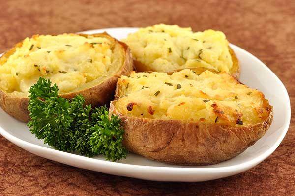 фаршированный картофель, блюда из картофеля, картофель фаршированный сыром