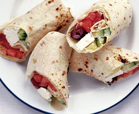 Греческий салат в лаваше | Рецепты с фото