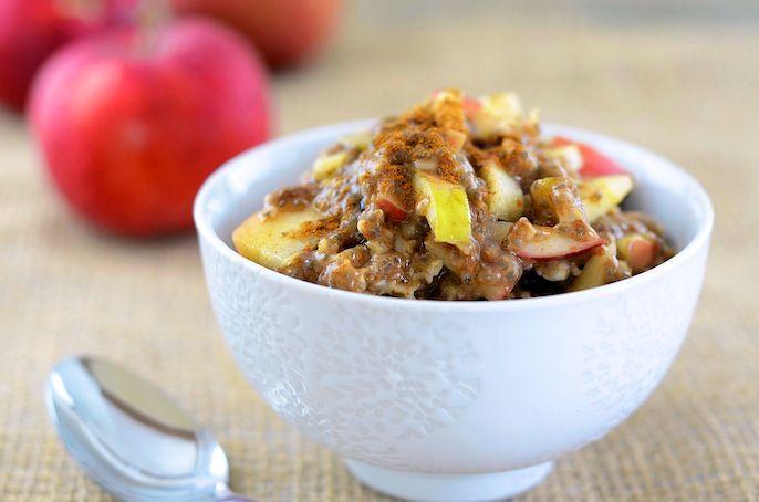 Овсяная каша с яблоками и корицей | Рецепты с фото