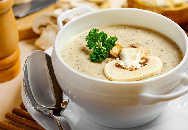 Крем-суп из шампиньонов | Рецепты с фото