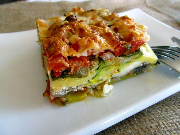 лазанья, овощная лазанья, лазанья с овощами