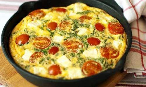 Омлет с помидорами | Рецепты с фото