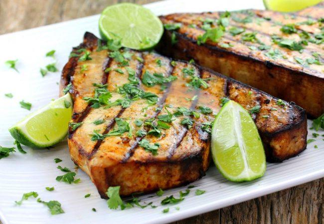 Рыба-меч на решетке | Рецепты с фото