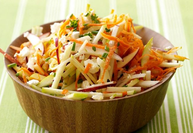 Салат из моркови с яблоком | Рецепты с фото