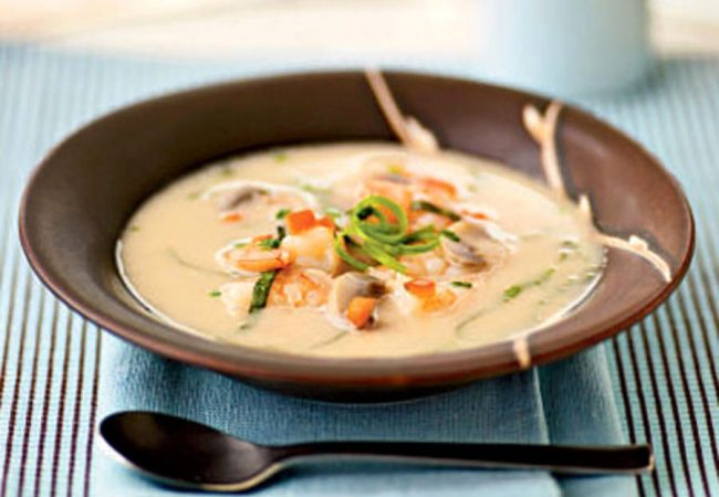 Суп-пюре из рыбы с креветками | Рецепты с фото