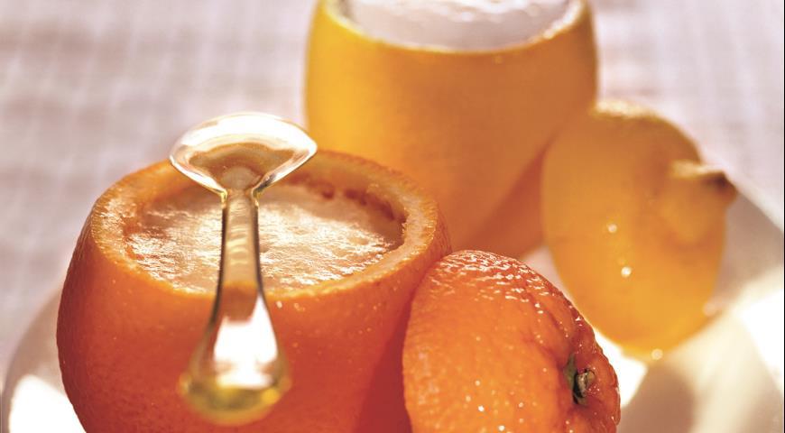 Апельсиновый и лимонный сорбет   Рецепты с фото
