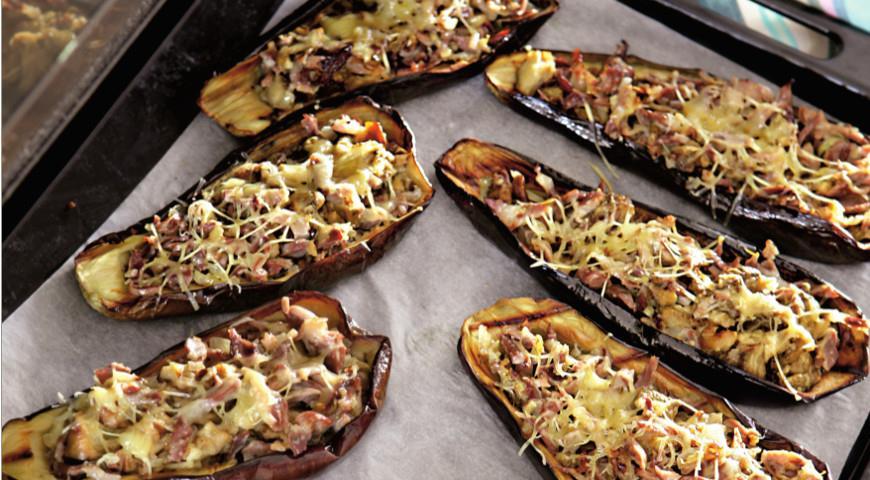 Баклажаны, фаршированные куриными желудками | Рецепты с фото