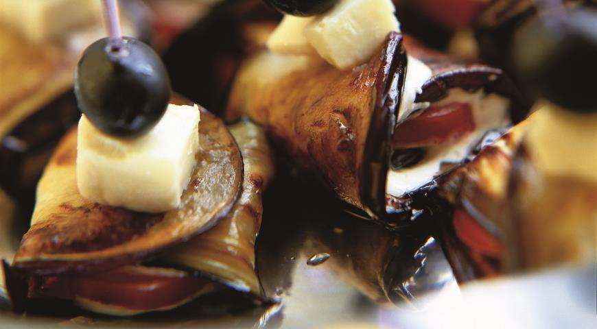 Баклажаны на шпажках   Рецепты с фото