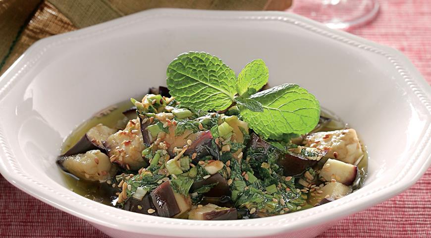 Баклажаны с чесноком и мятой | Рецепты с фото