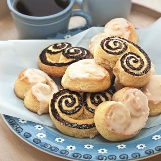 Берлинское печенье с лимонной и шоколадной глазурью | Рецепты с фото