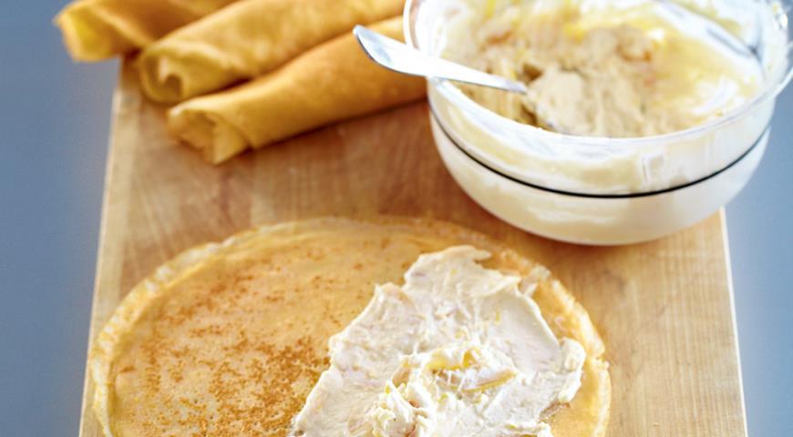 Блинчики с лимонным творогом | Рецепты с фото