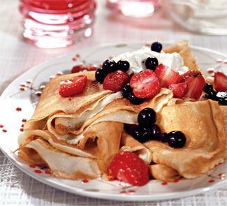 Блины с ягодами | Рецепты с фото