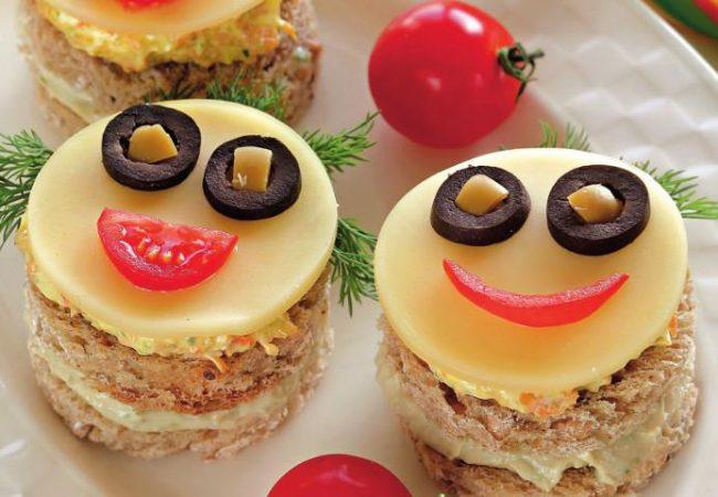 Бутерброды-рожицы | Рецепты с фото